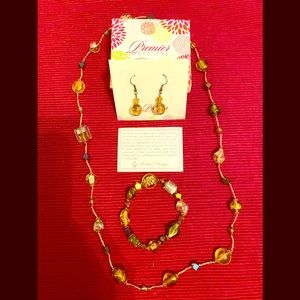 Premier Designs 3-pcs Gold-tone Jewelry Set
